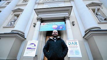 Ks. Rafał Sikorski, duszpasterz akademicki w kościele św. Anny
