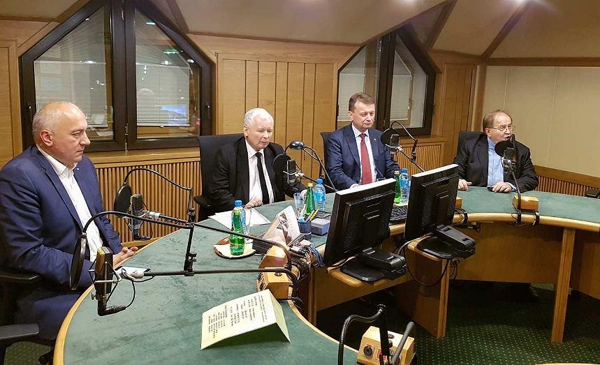 Kaczyński, Błaszczak i Brudziński u Rydzyka