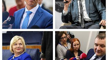 Senatorowie niezależni: Krzysztof Kwiatkowski, Wadim Tyszkiewicz, Lidia Staroń i Stanisław Gawłowski