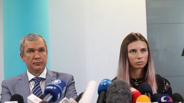Paweł Łatuszka i Kryscina Cimanouska