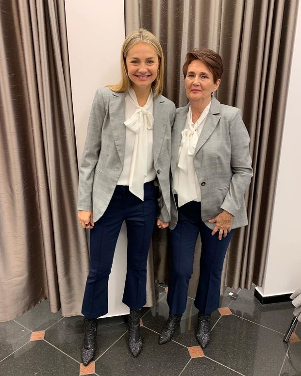 Małgorzata Socha z mamą