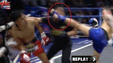 Niecodzienna sytuacja na gali tajskiego boksu