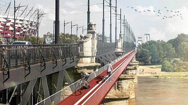 Kładka rowerowa mostu Poniatowskiego