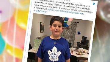 Nikt nie przyszedł na urodziny do 11-latka. Tata napisał o tym na Twitterze