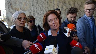 Małgorzata Kidawa - Blońska podczas przesłuchania Donalda Tuska w Sądzie Okręgowym w Warszawie.