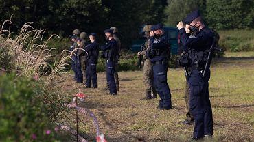 Usnarz Dolny. Migranci na granicy polsko-białoruskiej