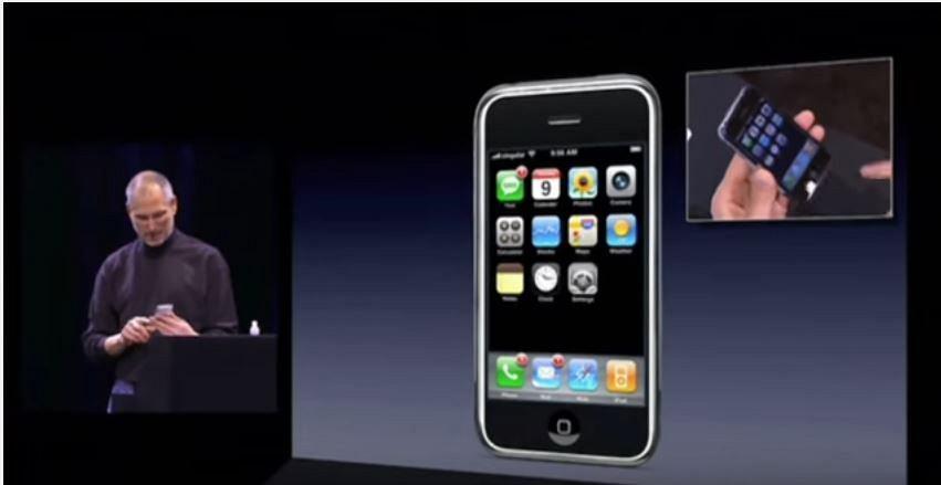 Prezentacja pierwszego iPhone'a