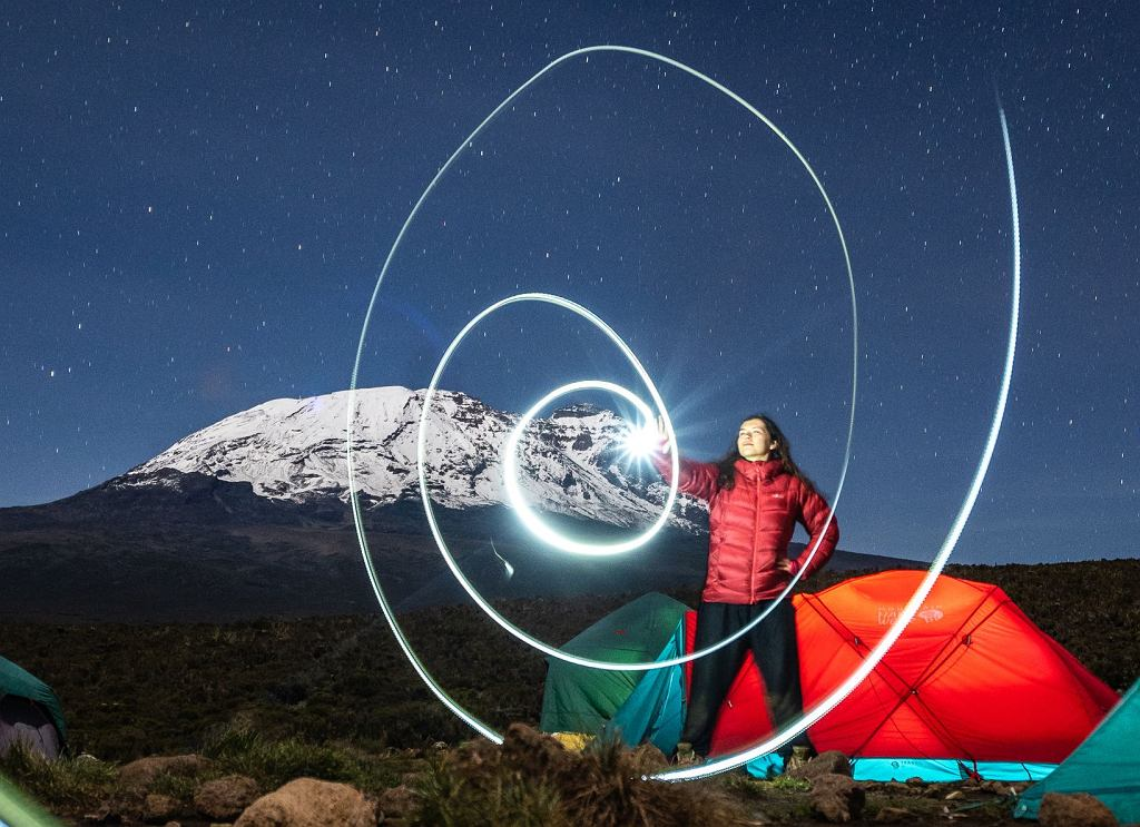 Podczas wejścia na Kilimandżaro