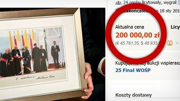 Sukces aukcji WOŚP ze zdjęciem podarowanym przez Agatę Dudę