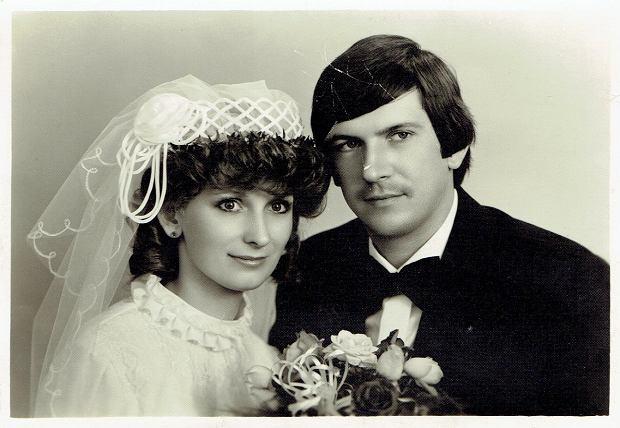 Ślubne zdjęcie Marii Osadnik. 23.08.1980
