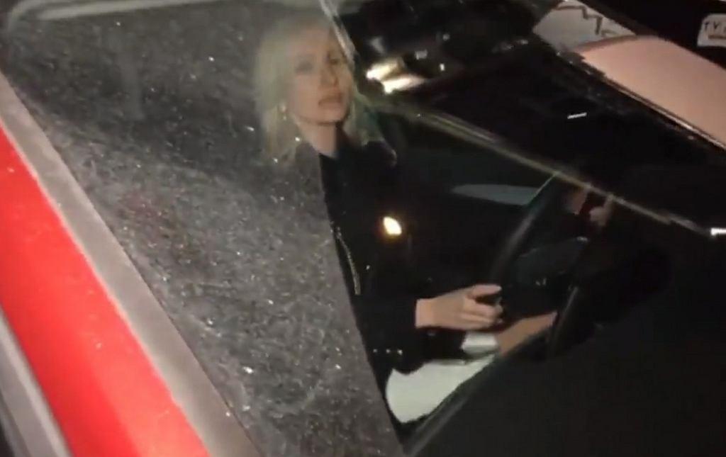 Atak na Magdalenę Ogórek przed siedzibą TVP
