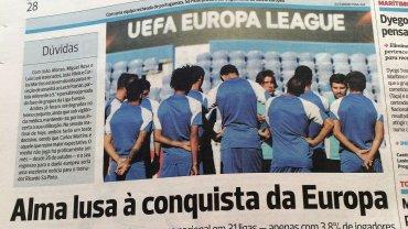Portugalska prasa przed meczem Belenenses Lizbona - Lech Poznań w Lidze Europejskiej