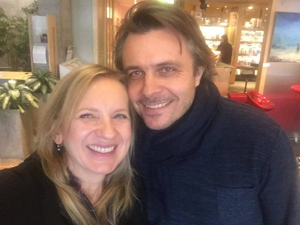 Marzena Rogalska i Marek Bukowski w redakcji Radia Złote Przeboje