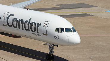 Samolot w barwach linii Condor