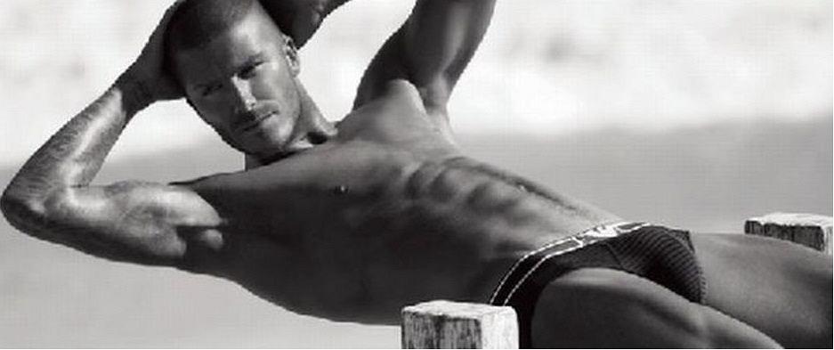 David Beckham dla Giorgio Armani.