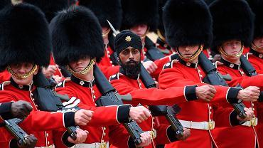 Sikh wśród królewskich gwardzistów