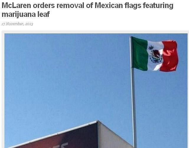 Flaga na stoisku McLarena