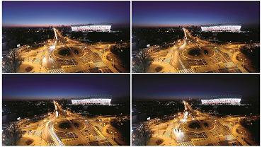 Warszawa nocą - klatka po klatce