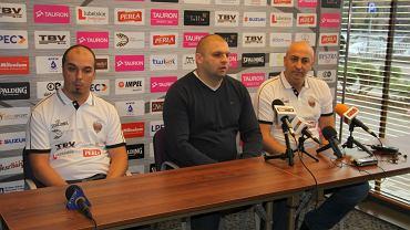 Od lewej: Michał Sikora, Arkadiusz Pelczar i Dusan Radović - nowy trener MKS Start Lublin