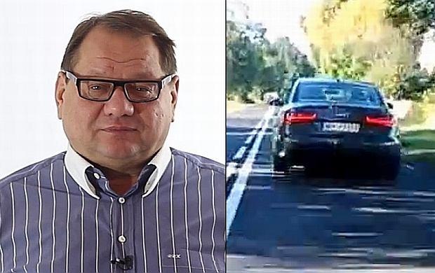 Ryszard Kalisz jechał 100 km/h w terenie zabudowanym?