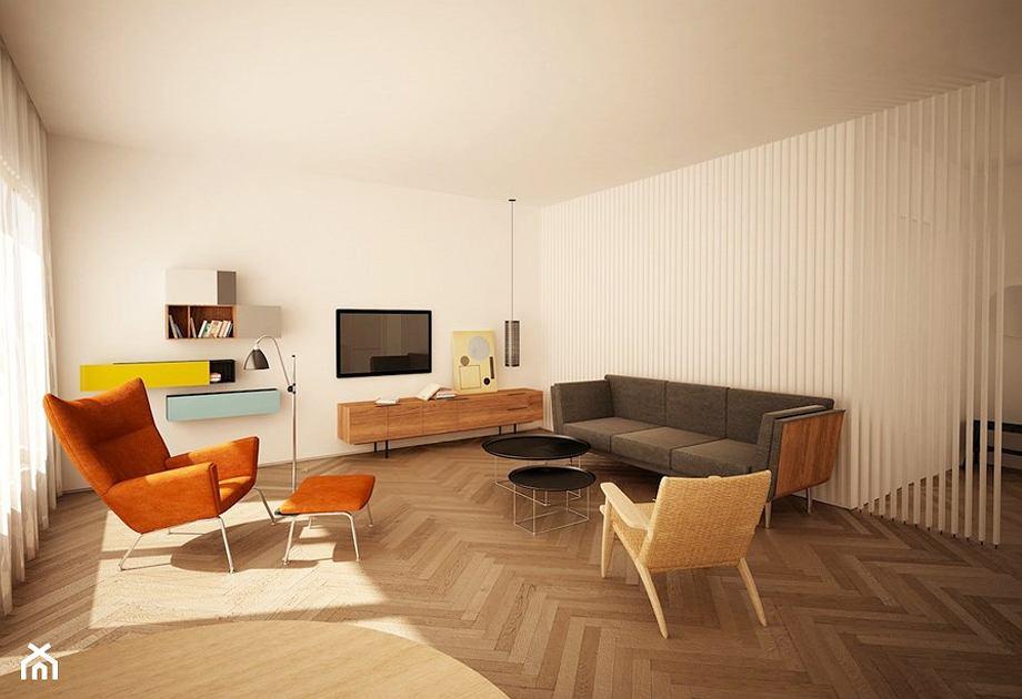 Fotel z podnóżkiem - aranżacja salonu