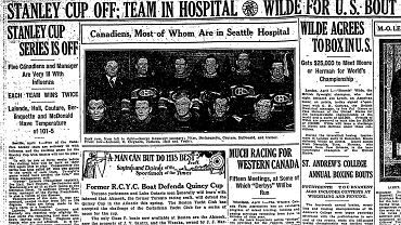 Gazety pisały o epidemii, która dotknęła Pucharu Stanleya
