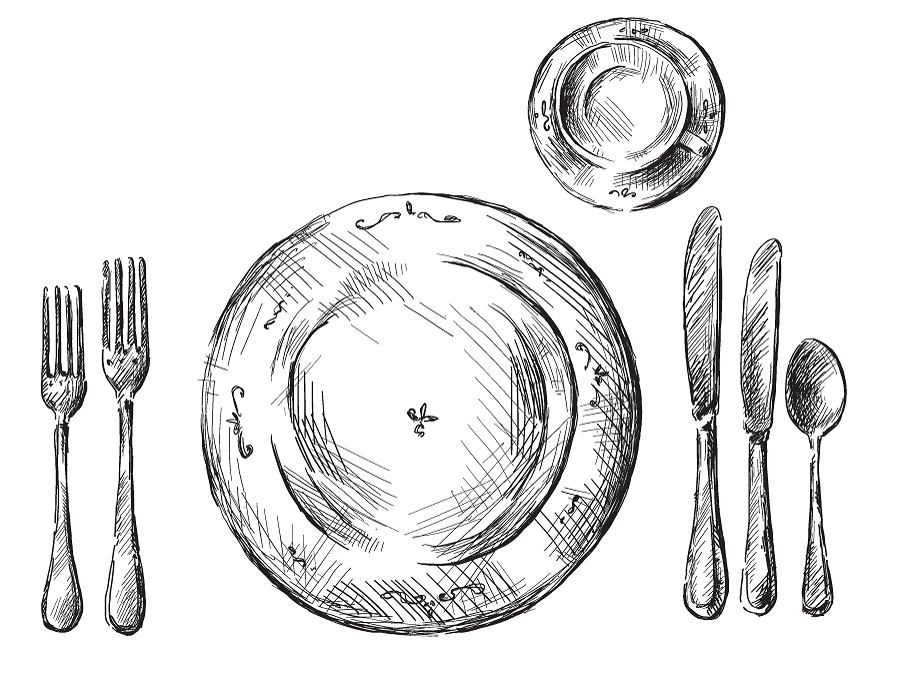 Rysunek: Nakrycie stołu