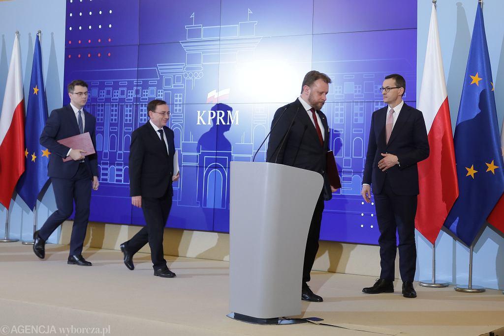 Konferencja premiera ws. epidemii koronawirusa w Polsce, Warszawa 13.03.2020