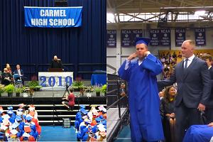 Gdy uczeń odbierał dyplom, nikt nie klaskał. Powód był bardzo ważny