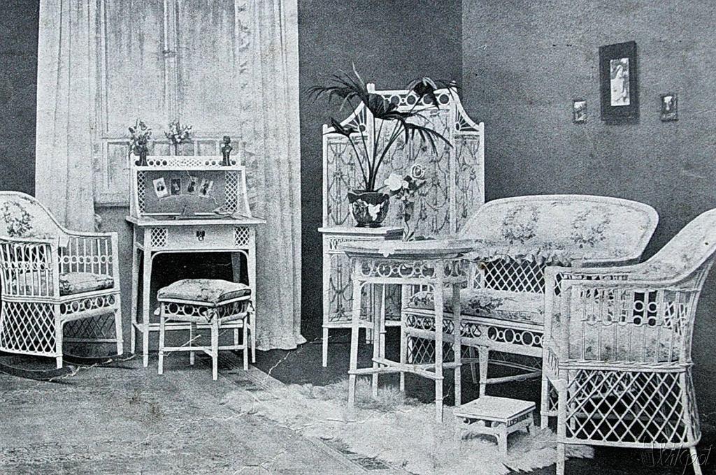 Polskie meble wiklinowe już przed wojną miały ciekawy design.
