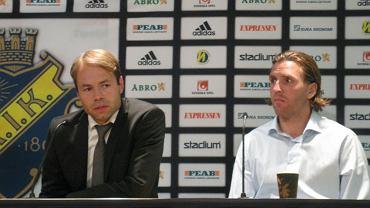 Trener AIK Solna Andreas Alm i Nils Eric Johansson