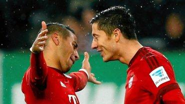 Thiago i Robert Lewandowski