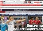 Liga Mistrzów. Niemieckie media: Bayern grał, Real wygrał