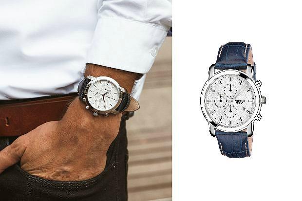 zegarek ze skórzaną bransoletą