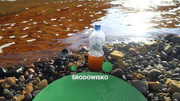 Rosja. Woda po wycieku paliwa z elektrociepłowni w Norylsku.