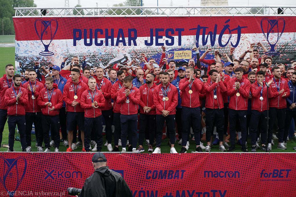 Częstochowa, 17 maja 2021 r. Raków Częstochowa świętował najlepszy sezon w stuletniej historii klubu