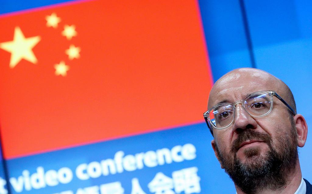 Szef Rady Europejskiej Charles Michel po szczycie UE - Chiny.