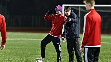 Chorzów, Stadion Śląski, trener Tobias Escher podczas konferencji trenerów