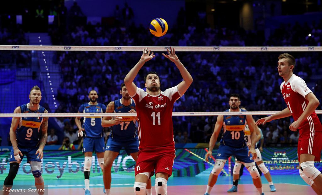 Fabian Drzyzga w meczu Polski z Włochami