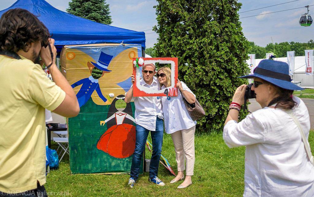 Park Śląski, piknik rodzinny z okazji 28. rocznicy wyborów 4 czerwca 1989