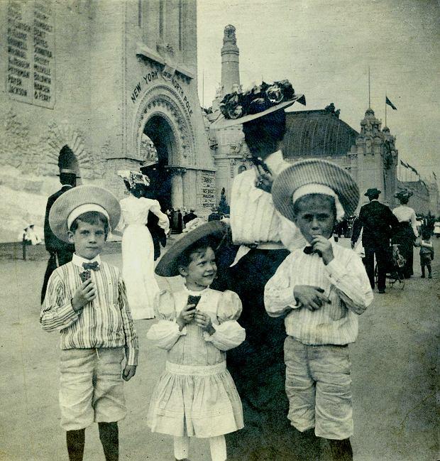 St. Louis, Wystawa Światowa w1904 r.  i lody wwafelkach.