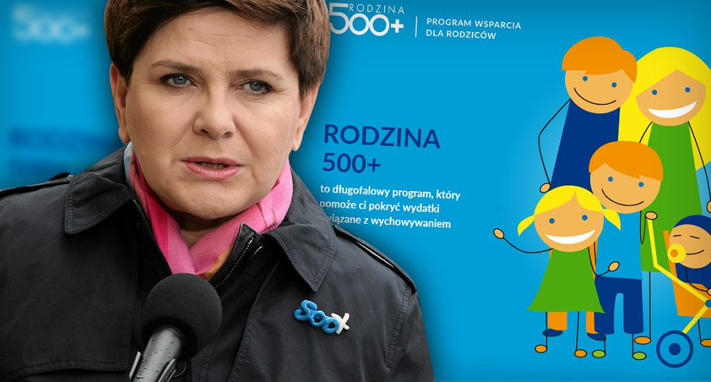 Rządowa strona projektu to www.rodzina500plus.gov.pl