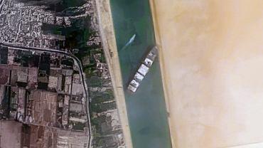 Ever Given zablokowany w Kanale Sueskim