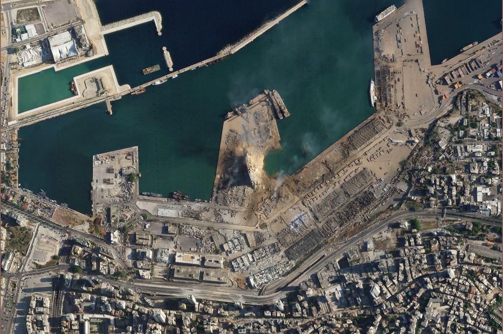 Port w Bejrucie - zdjęcie po eksplozji
