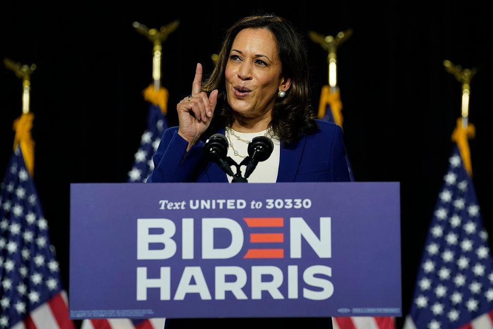 Kamala Harris przemawia na konwencji Demokratów, Wilmington w stanie Delaware, 12 sierpnia 2020 r.