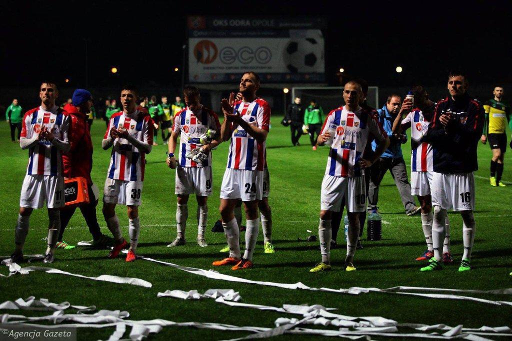 Piłkarze Odry Opole znowu mieli powody do radości
