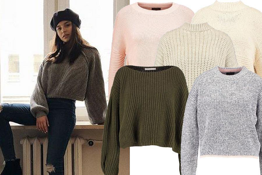 Kolaż, klasyczne krótkie swetry/Materiały partnera