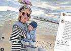 Justyna Nagłowska pokazała zdjęcie ze spaceru z synkiem. Fanka komentuje nosidełko: Nie można wybrać czegoś lepszego?