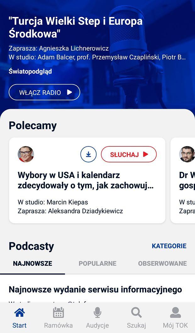 Aplikacja TOK FM w nowej wersji