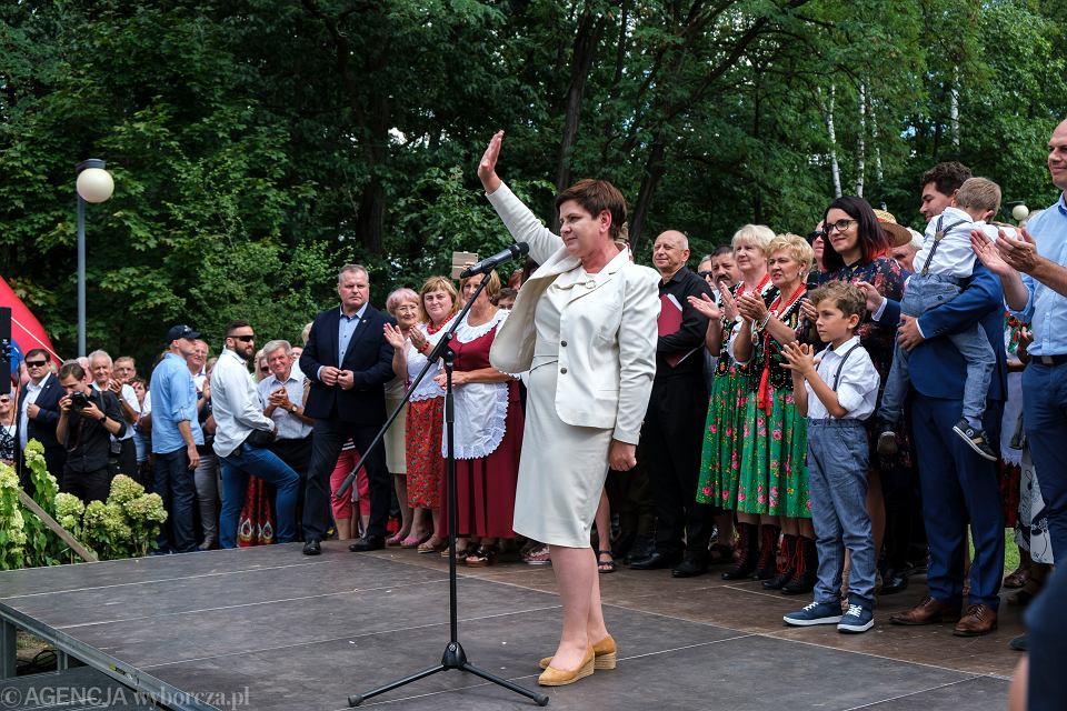 18.08.2019, Stalowa Wola, europosłanka Beata Szydło podczas Pikniku Rodzinnego Prawa i Sprawiedliwości.